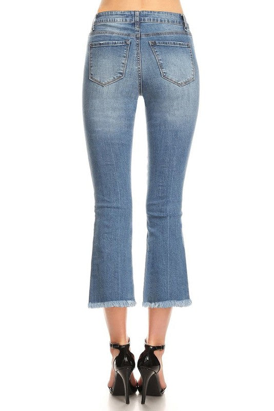 The Carley Cropped Flare Denim Jeans