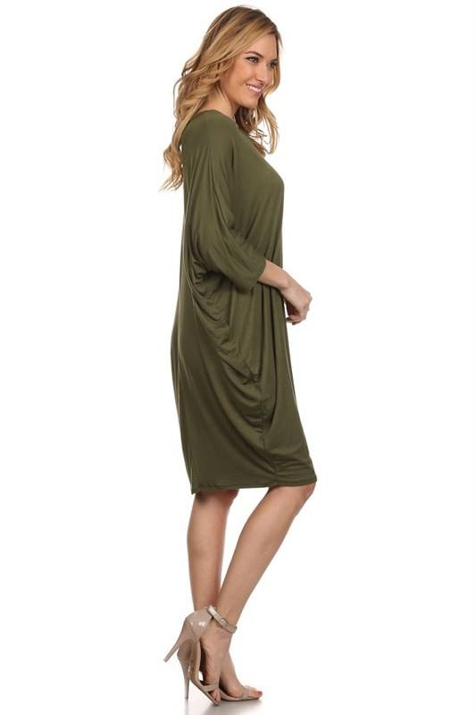 Dolman Dress Army Green
