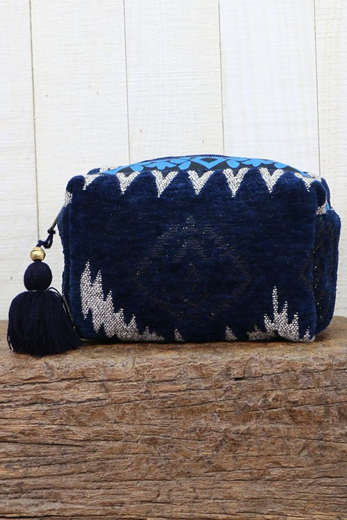 Love Stitch Velveteen Origami Makeup Bag
