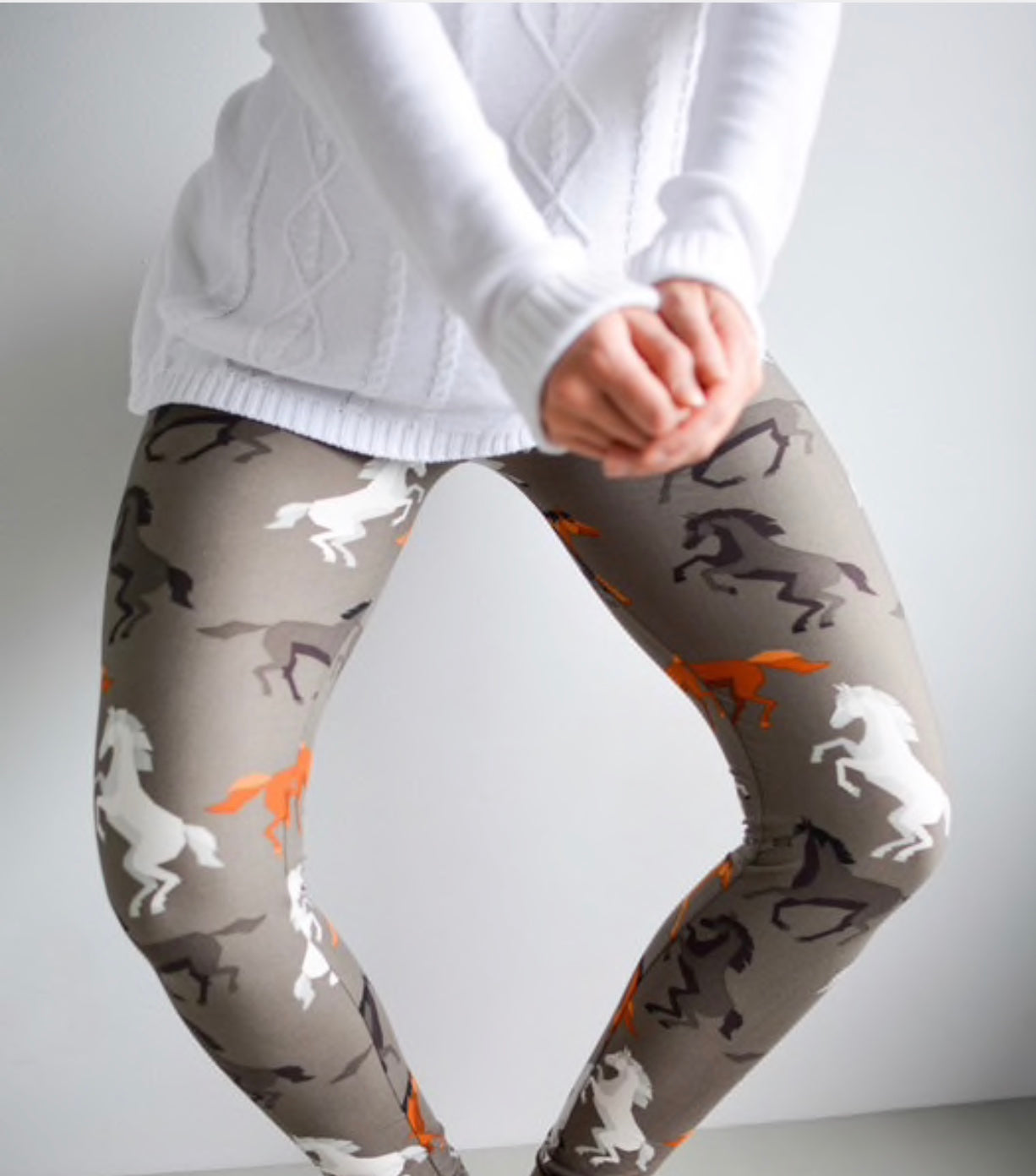 Adult Horse Print Leggings