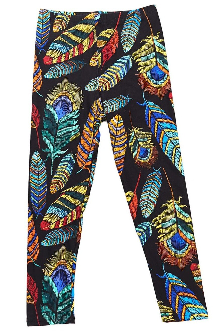 Adult Feather Print Leggings