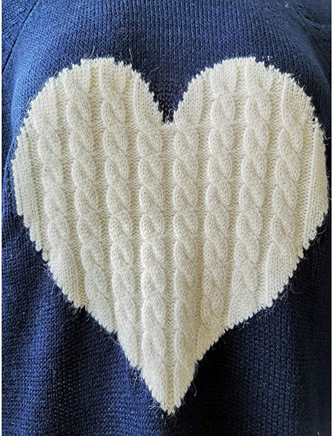 Love Life Cable Sweater Blue