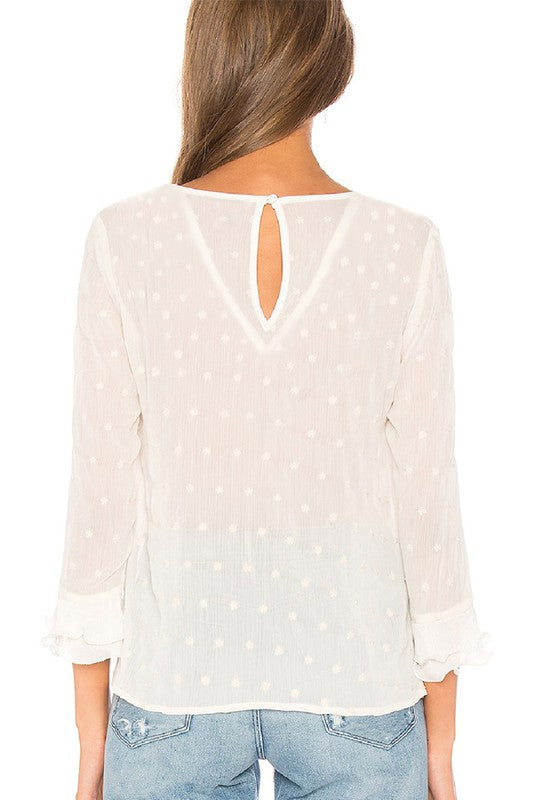Lace Polka Dot Top