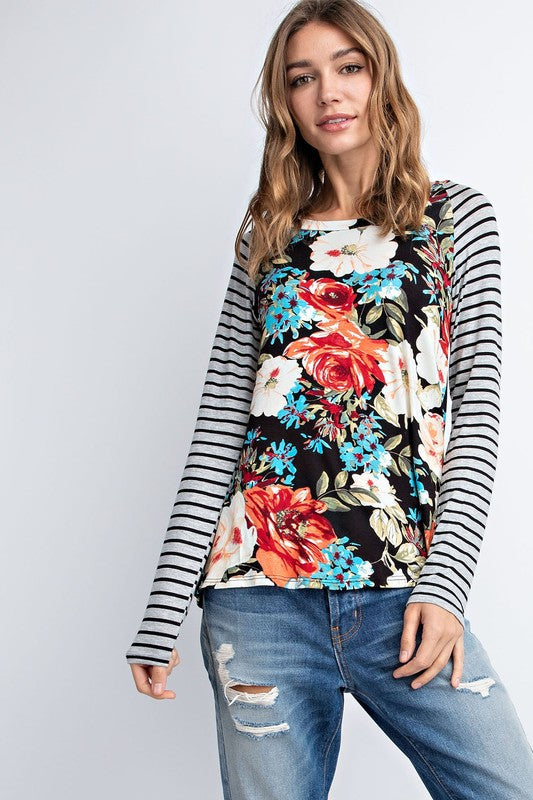 Striped flower top