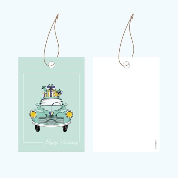 Cadeaulabel - Happy Birthday Auto