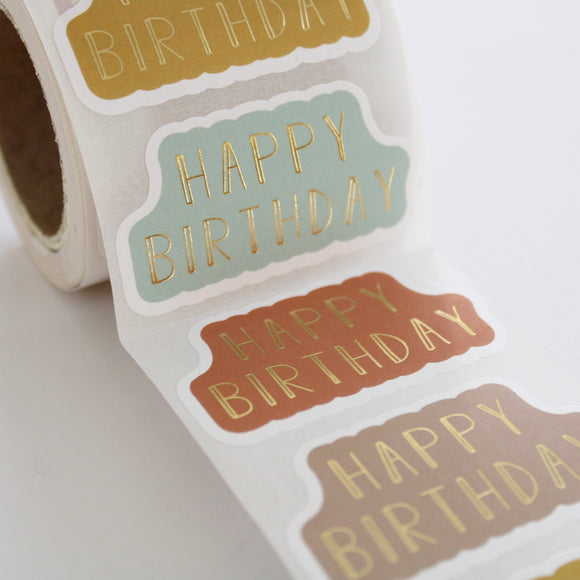 Cadeausticker - Happy Birthday (5 stuks)
