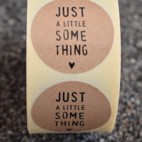 Cadeausticker - Just a little some thing (5 stuks)