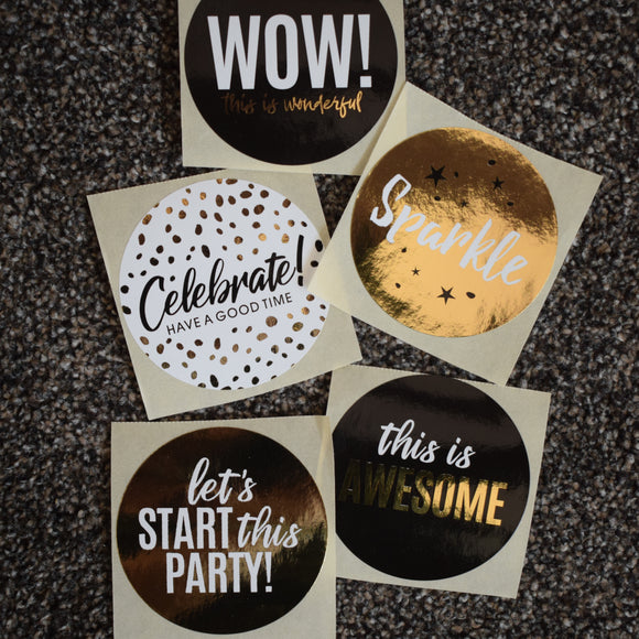 Cadeaustickers - party set 5 stuks