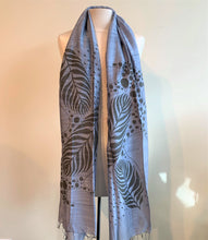 Load image into Gallery viewer, Fern Leaves Scarf - 2 colours available