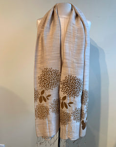 Chrysanthemum Scarf - 3 colours available