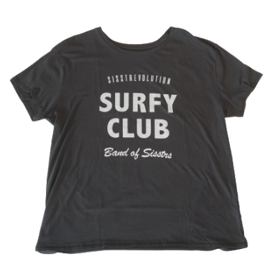 SURFY CLUB S/S KNIT TEE-CHR