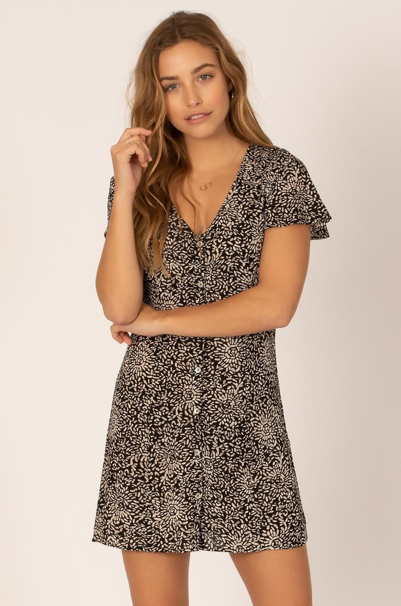 SHINING DOWN WVN DRESS-BLK