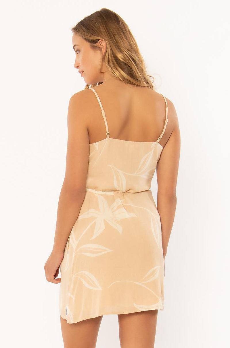 ALWAYS ON POINT WVN DRESS - TAN