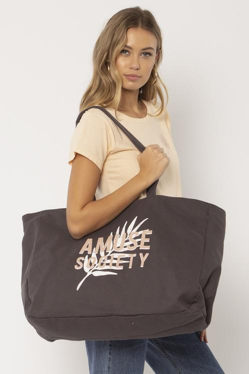 SUNYSIDE WOVEN TOTE-CHR