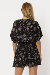 MELLOW MORNING WVN S/S DRESS-BLK