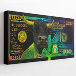 RAINBOW HUNDRED DOLLAR BULL - Wall Street Prints
