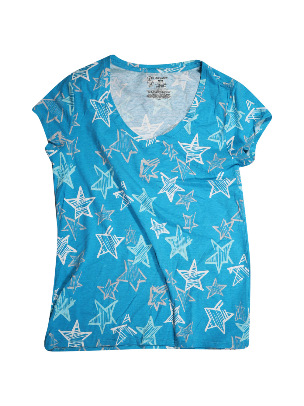 Front photo of Preloved NO BOUNDARIES Light-blue Girl's t-shirt - size 14-16 yrs