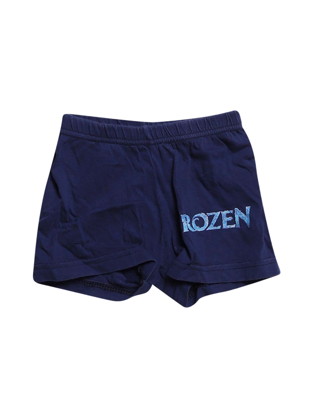 Front photo of Preloved frozen Blue Girl's shorts - size 12-18 mths
