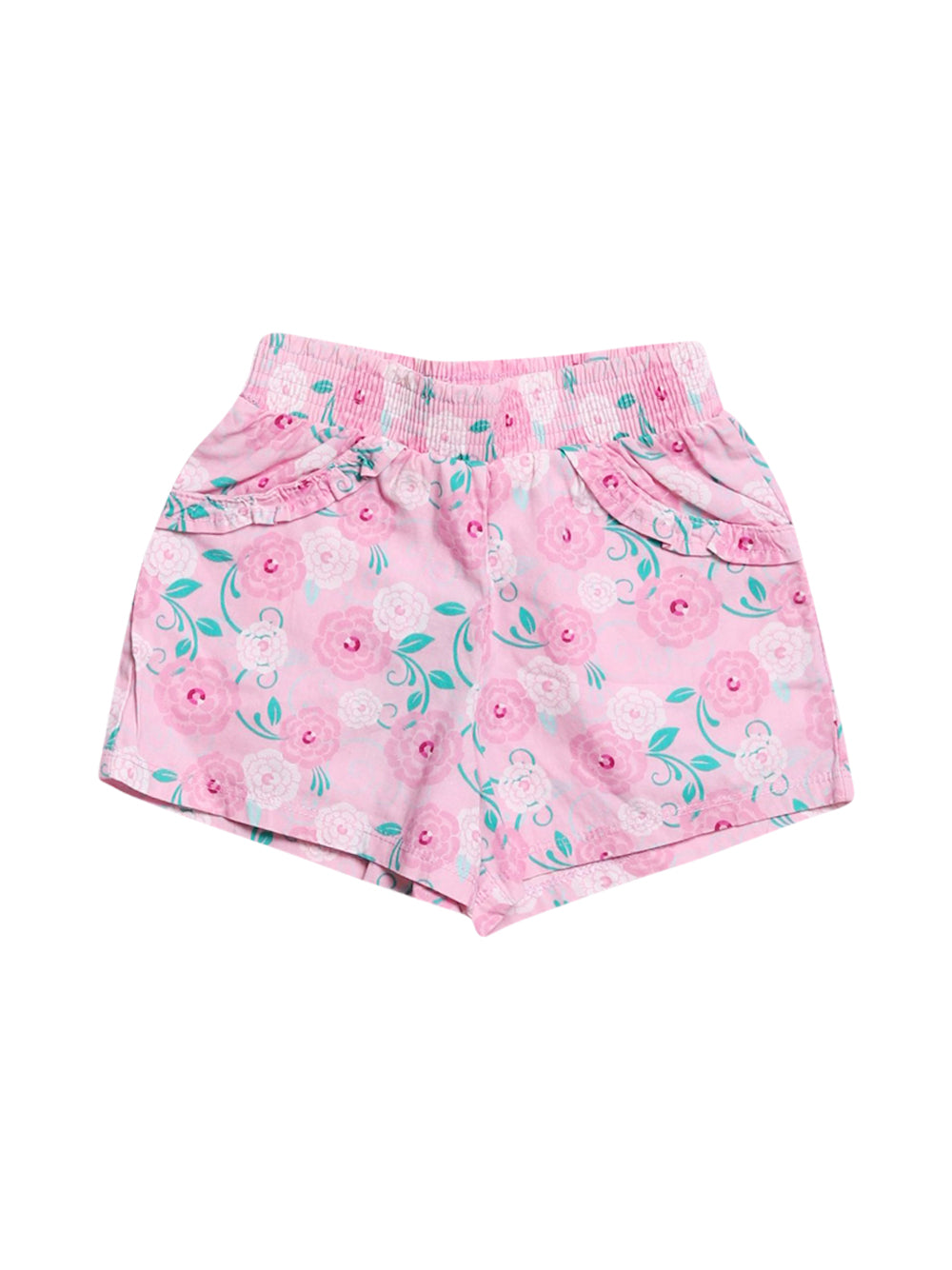 Front photo of Preloved Disney Pink Girl's shorts - size 2-3 yrs