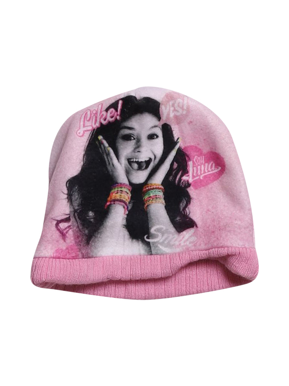 Front photo of Preloved Disney Pink Girl's hat - size 3-4 yrs