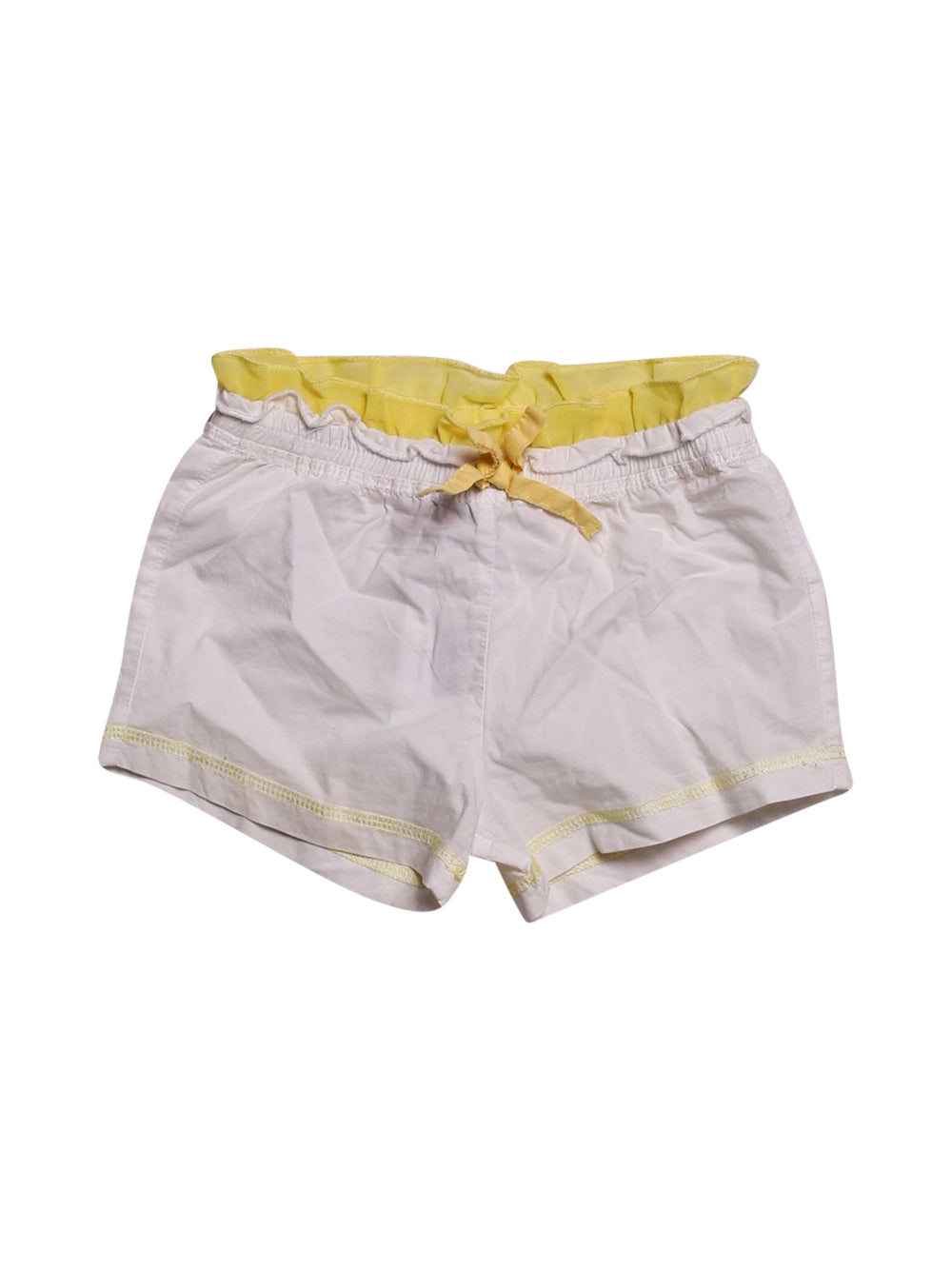 Front photo of Preloved Disney White Girl's shorts - size 12-18 mths