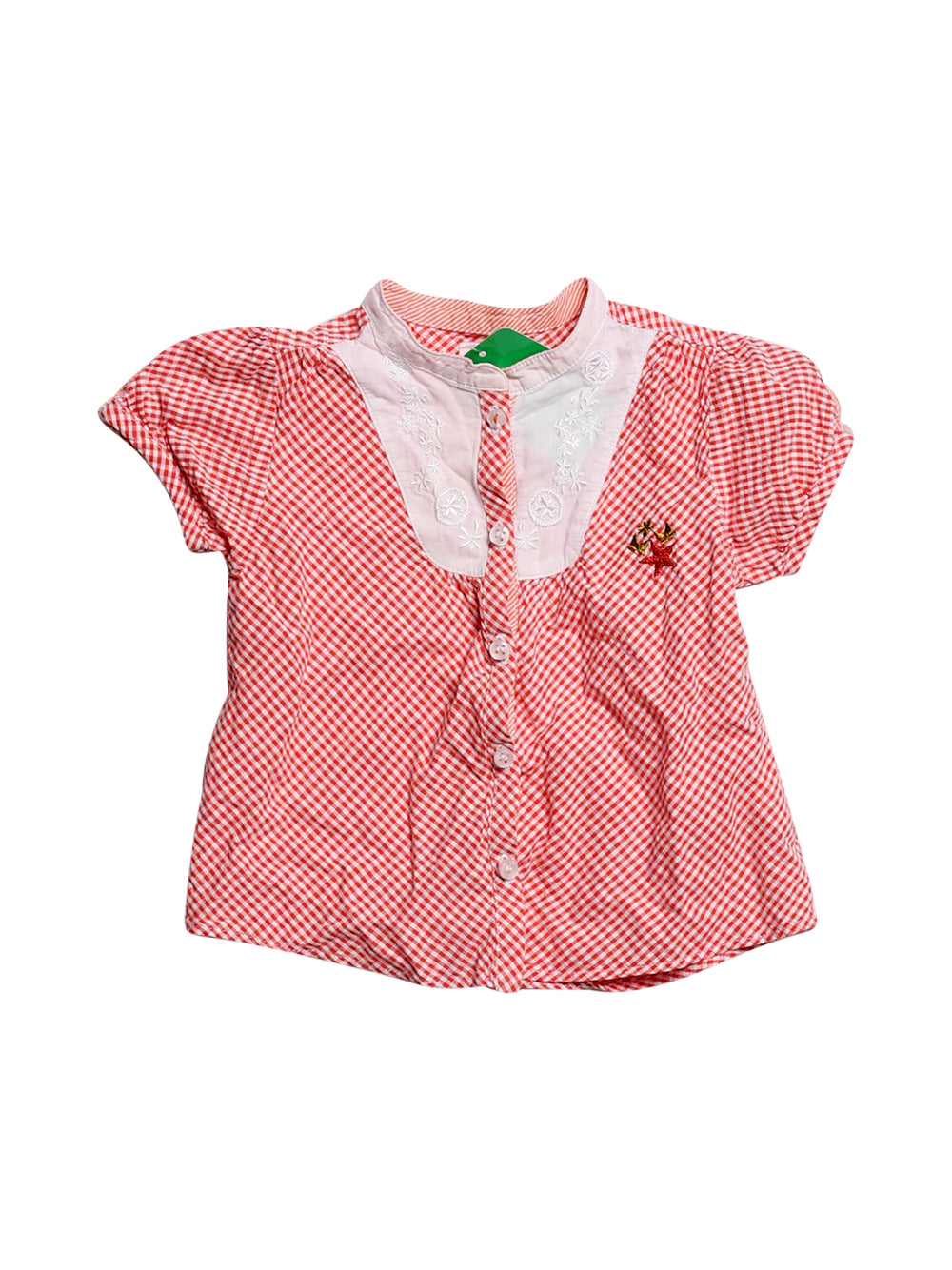 Front photo of Preloved Marèse Red Girl's shirt - size 12-18 mths