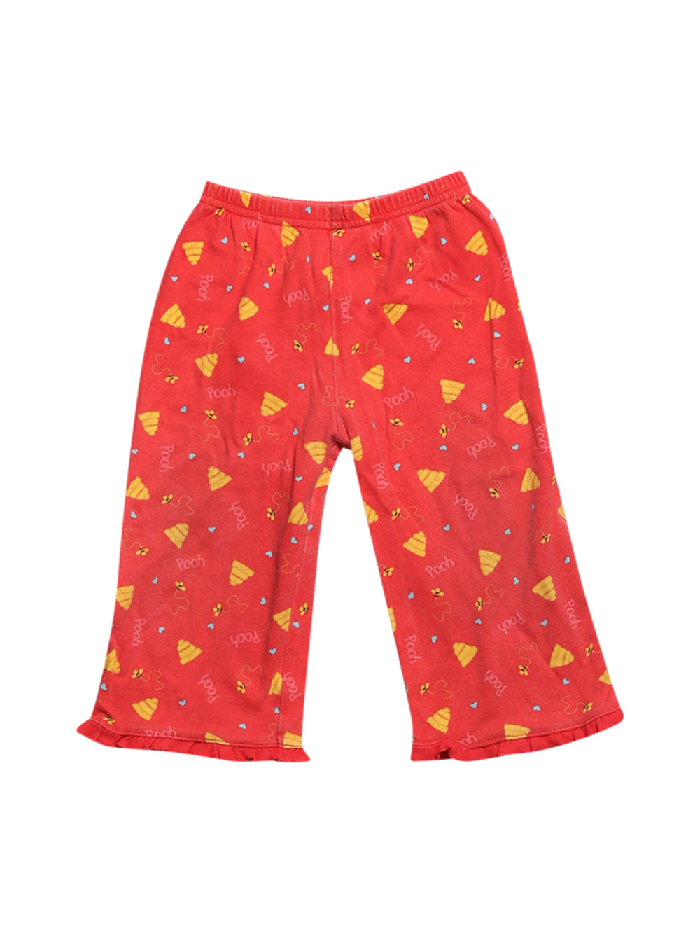 Front photo of Preloved Disney Red Girl's trousers - size 12-18 mths