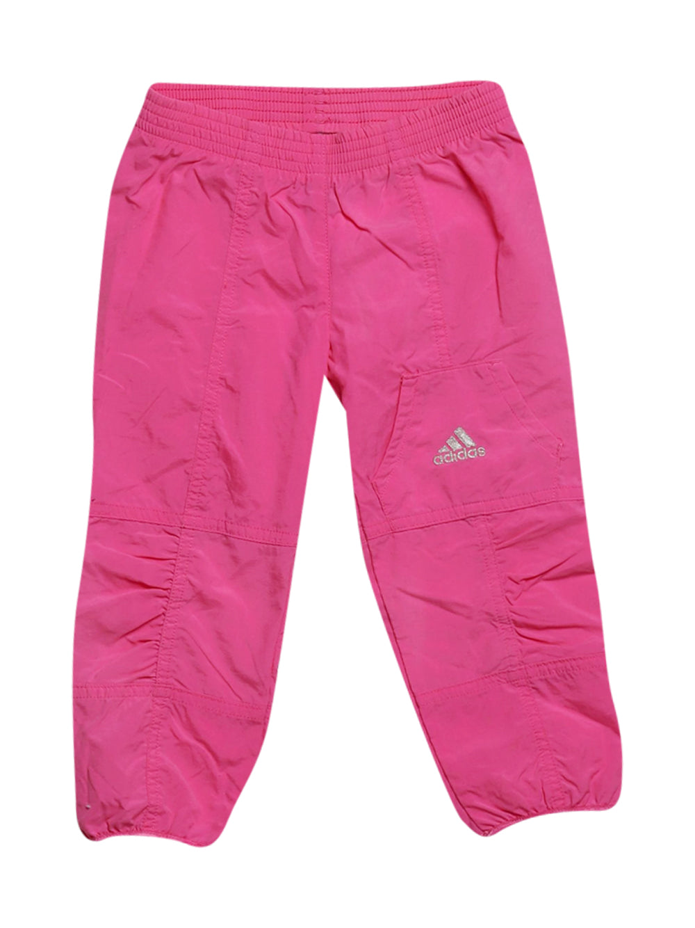 Front photo of Preloved Adidas Pink Girl's trousers - size 18-24 mths