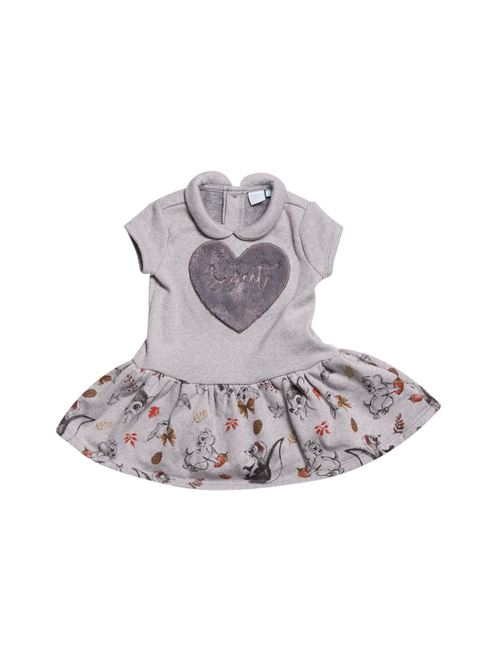 Front photo of Preloved Disney Grey Girl's dress - size 18-24 mths