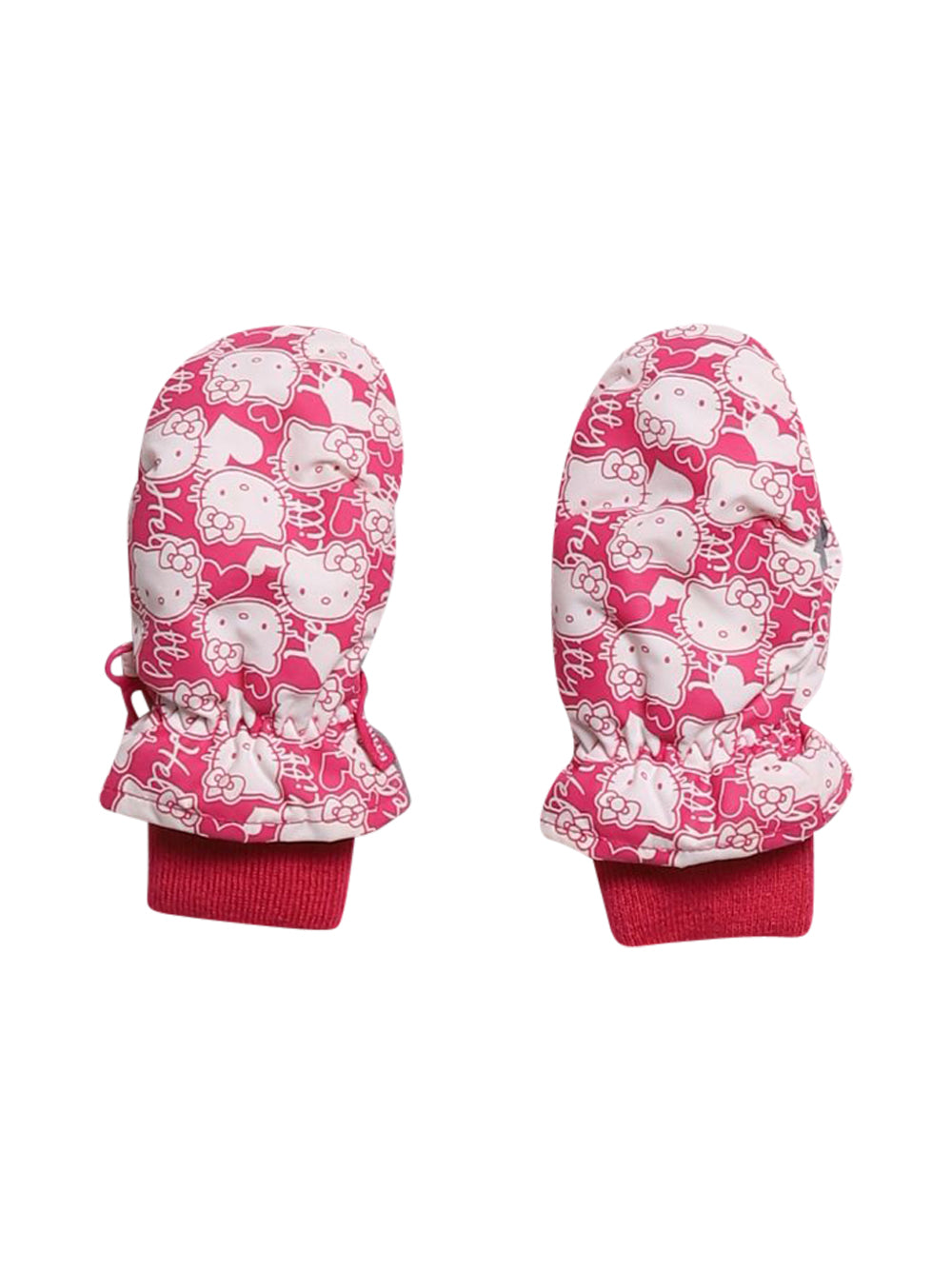 Front photo of Preloved Hello Kitty Pink Girl's gloves - size 18-24 mths