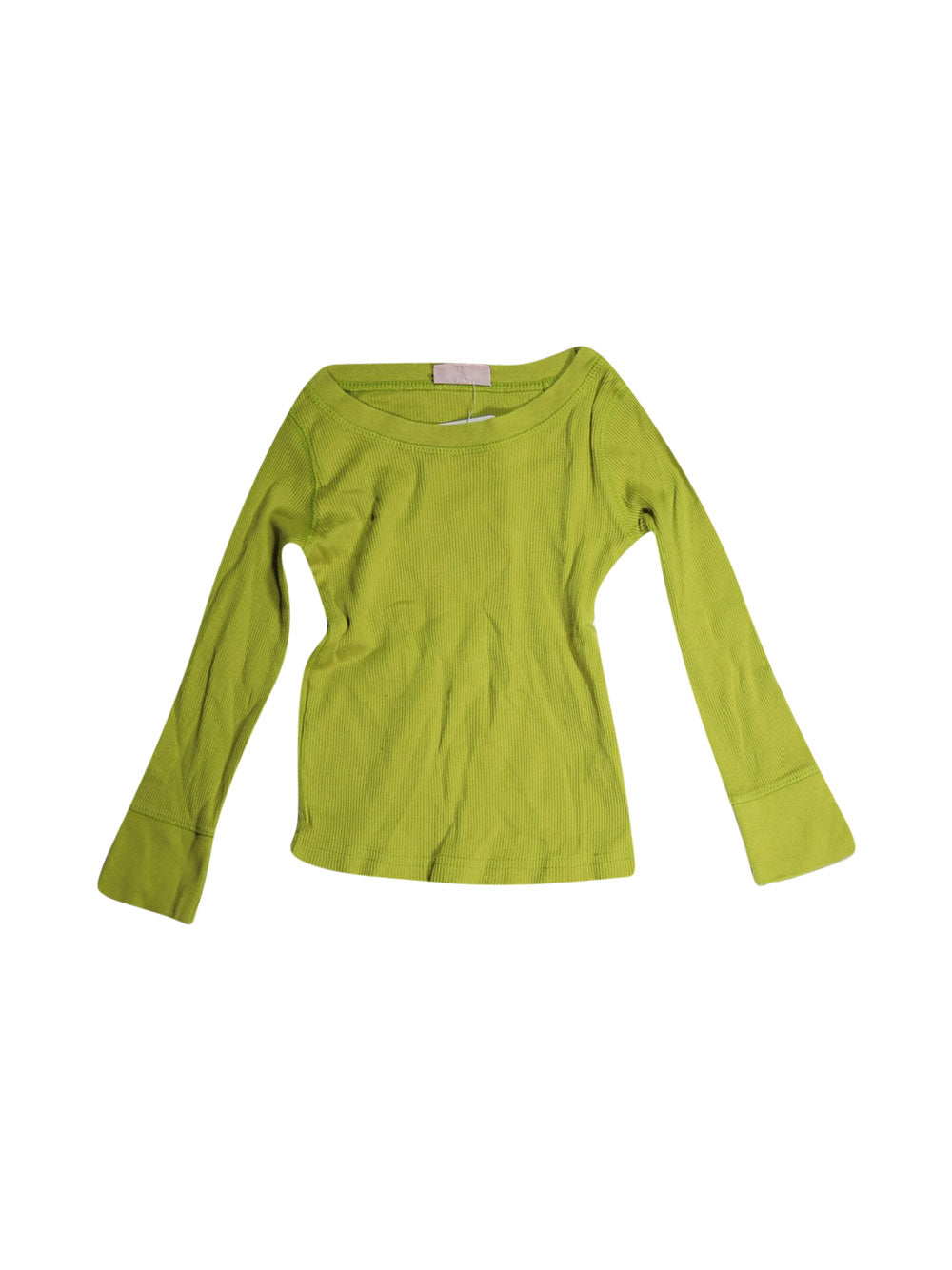 Front photo of Preloved Noa Noa Green Girl's long sleeved shirt - size 2-3 yrs