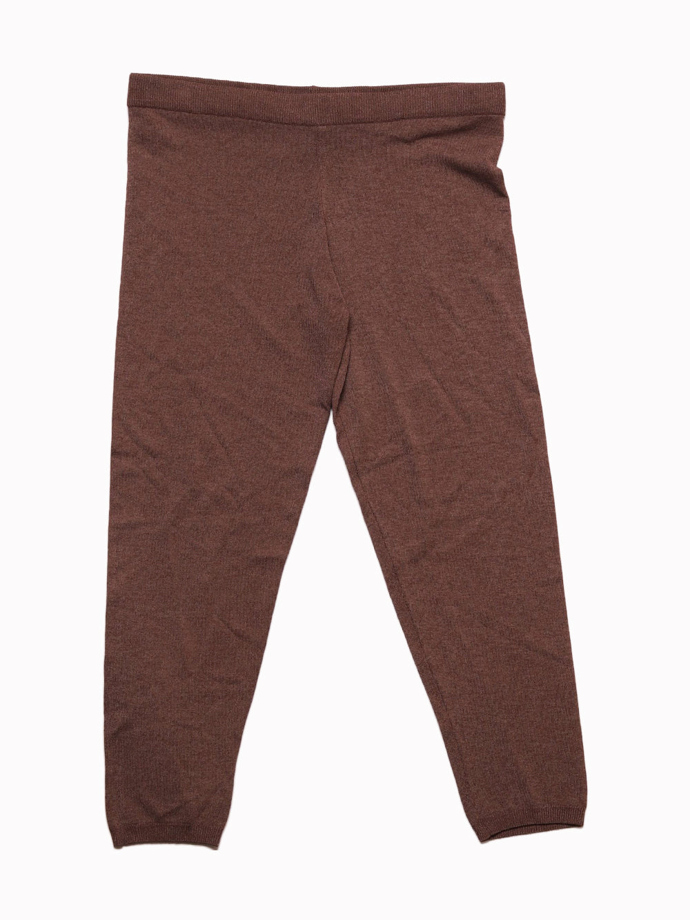 Front photo of Preloved Anis White Brown Woman's leggings - size 10/M