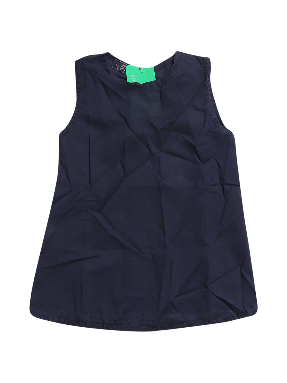 Front photo of Preloved Olive Blue Girl's sleeveless top - size 12-18 mths