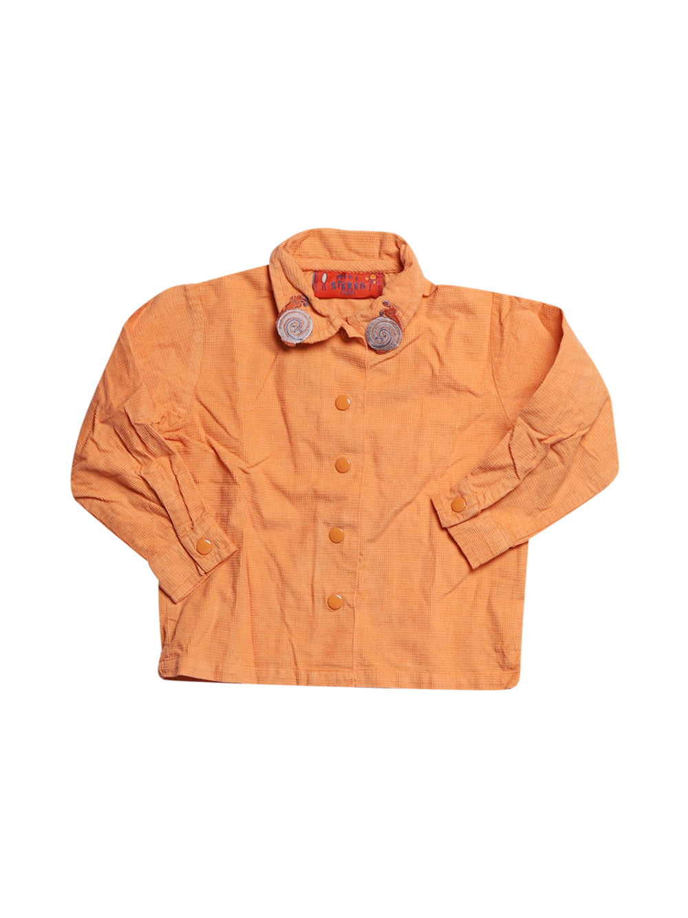 Front photo of Preloved mini stereo Orange Girl's shirt - size 2-3 yrs