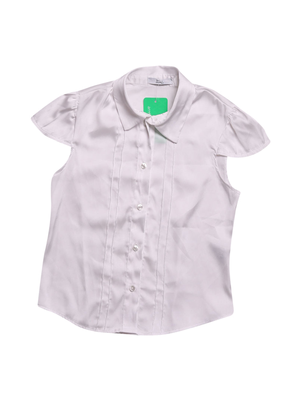 Front photo of Preloved y-clu White Girl's shirt - size 3-4 yrs