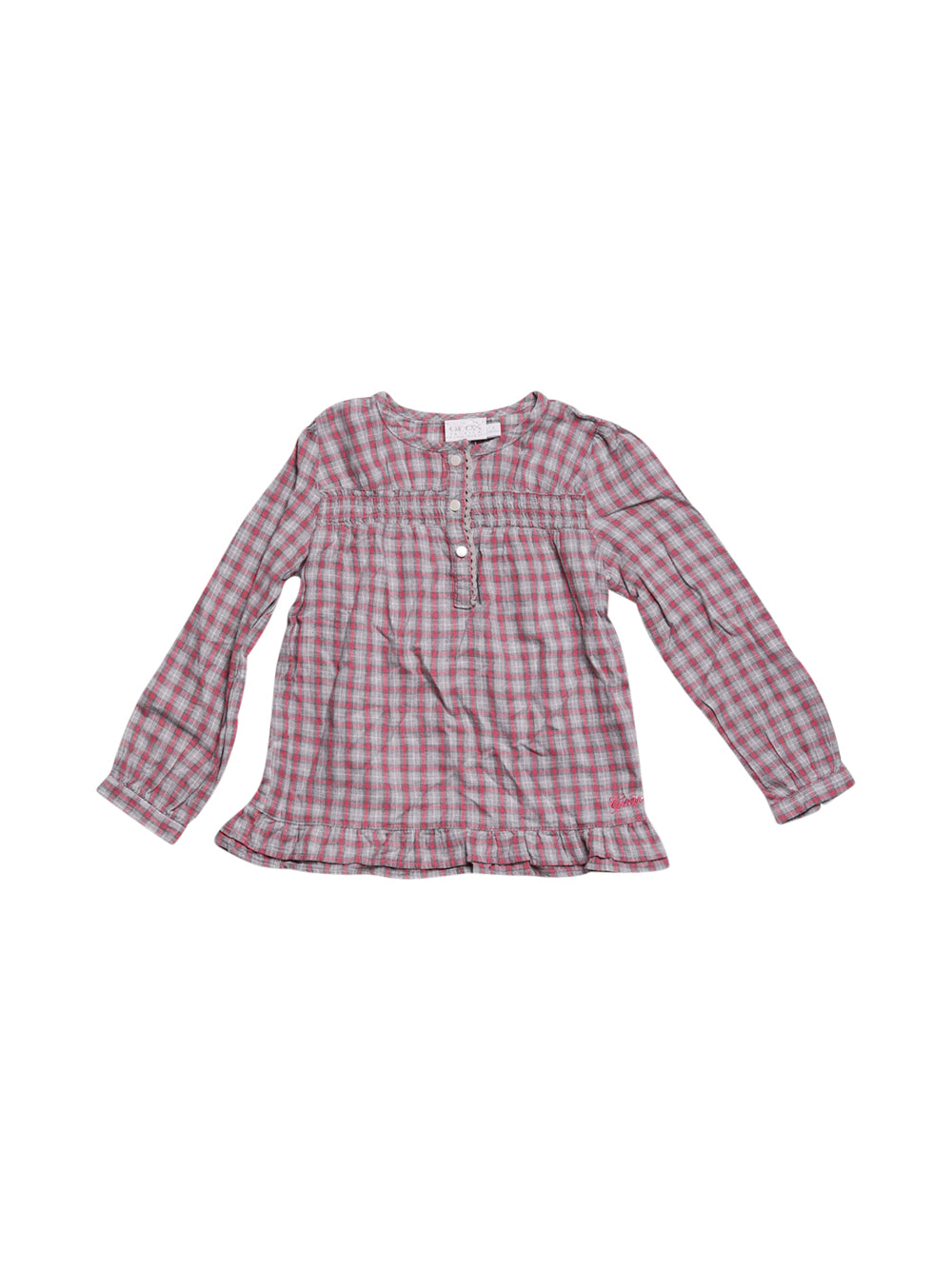 Front photo of Preloved Geox Grey Girl's shirt - size 3-4 yrs