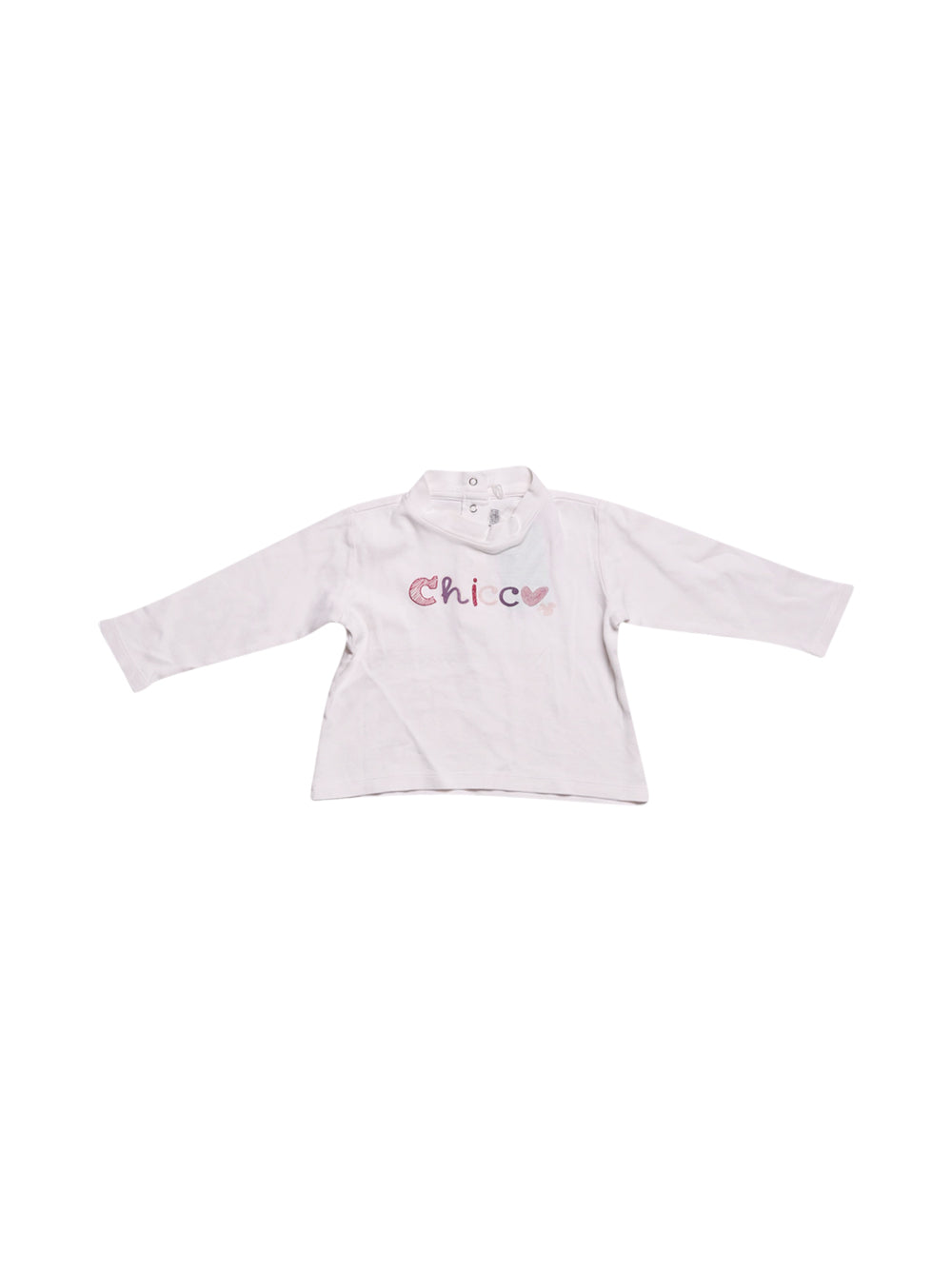 Front photo of Preloved Chicco White Girl's long sleeved shirt - size 12-18 mths