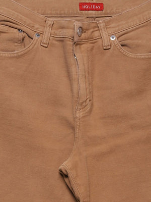 Detail photo of Preloved holiday Beige Woman's trousers - size 12/L