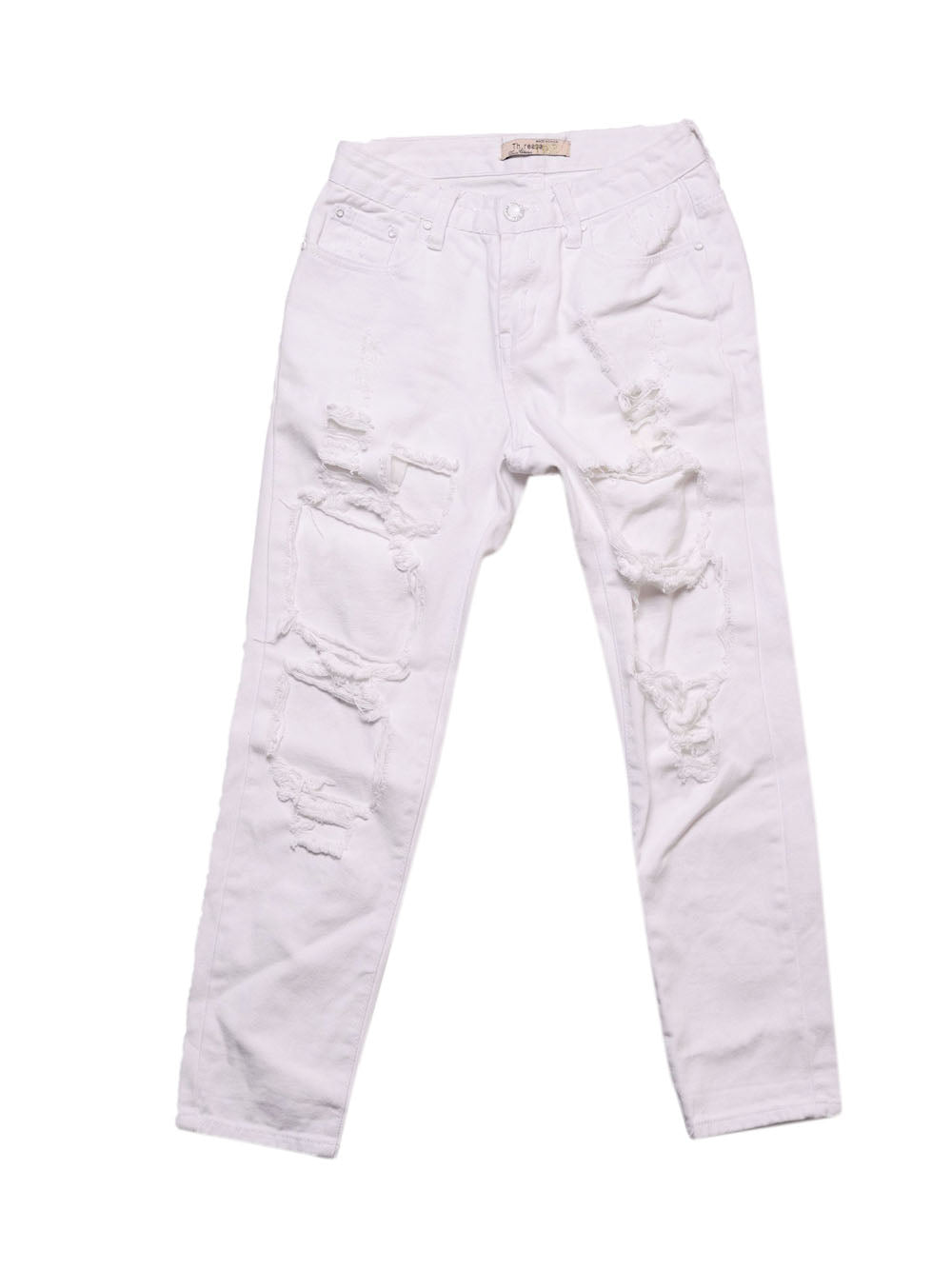 Front photo of Preloved denim collection White Woman's trousers - size 8/S