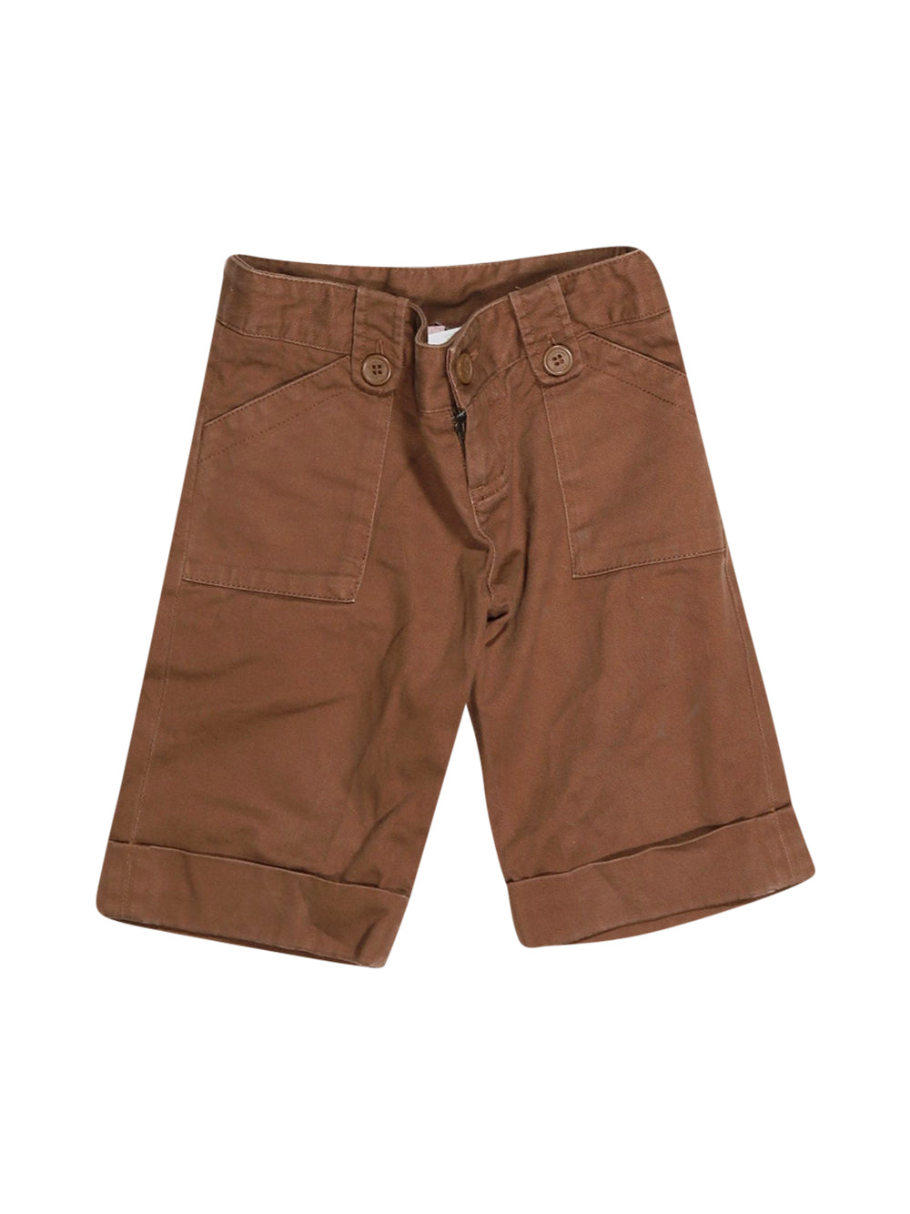 Front photo of Preloved Bonpoint Brown Boy's shorts - size 3-4 yrs