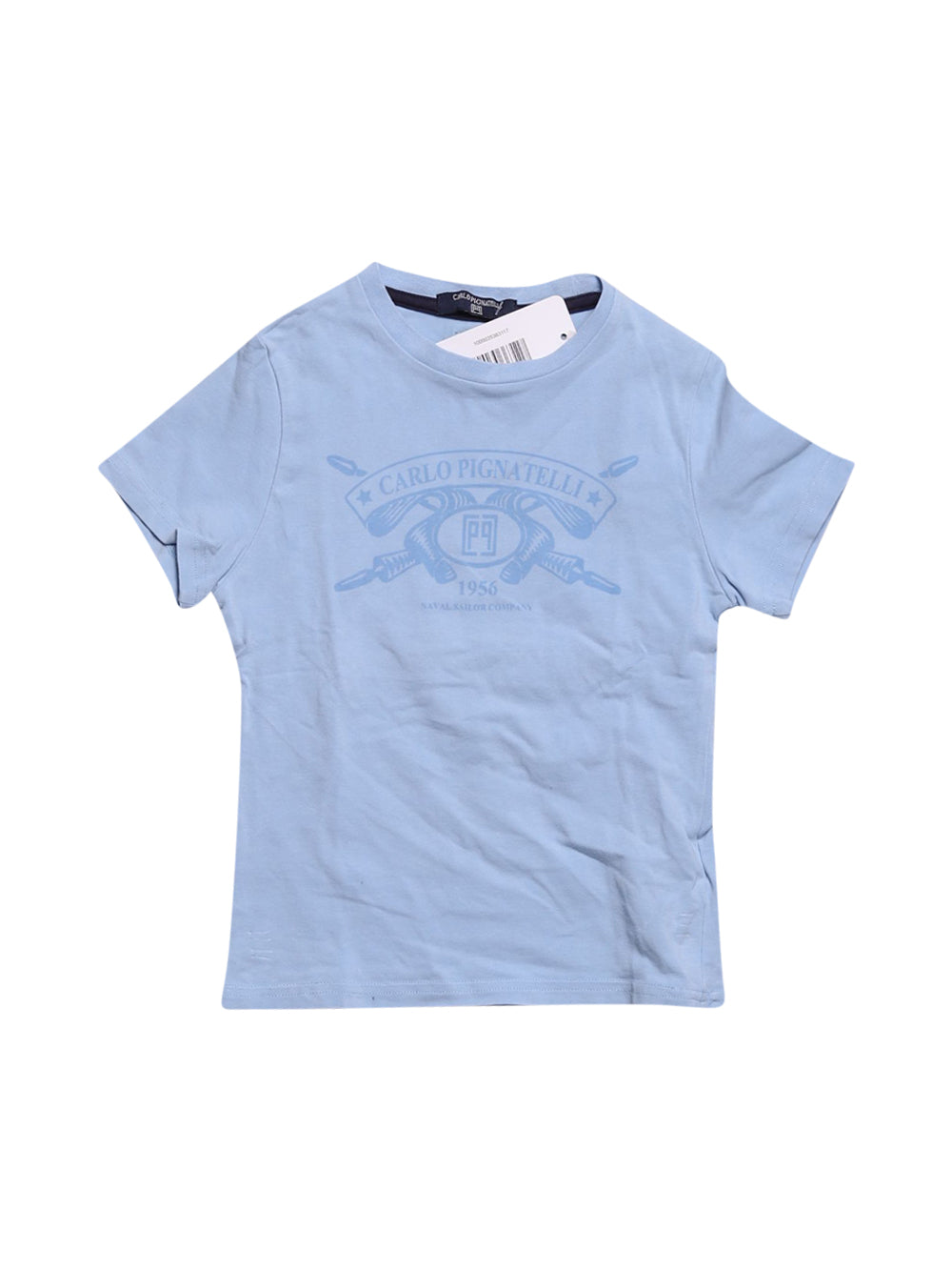 Front photo of Preloved Carlo Pignatelli Light-blue Girl's t-shirt - size 18-24 mths