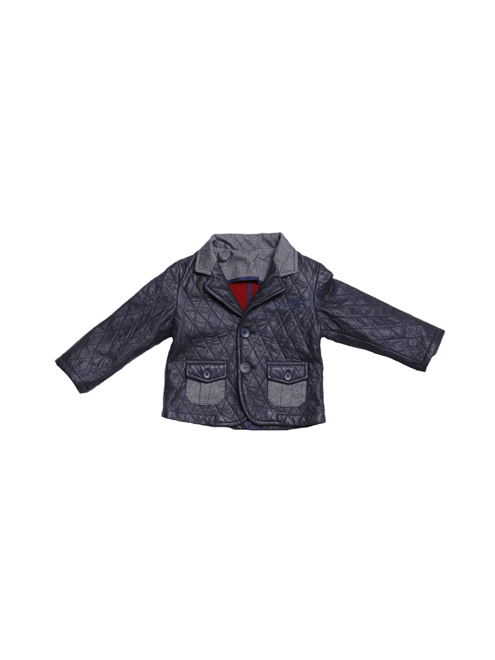 Front photo of Preloved Manuell & Frank Blue Boy's jacket - size 12-18 mths