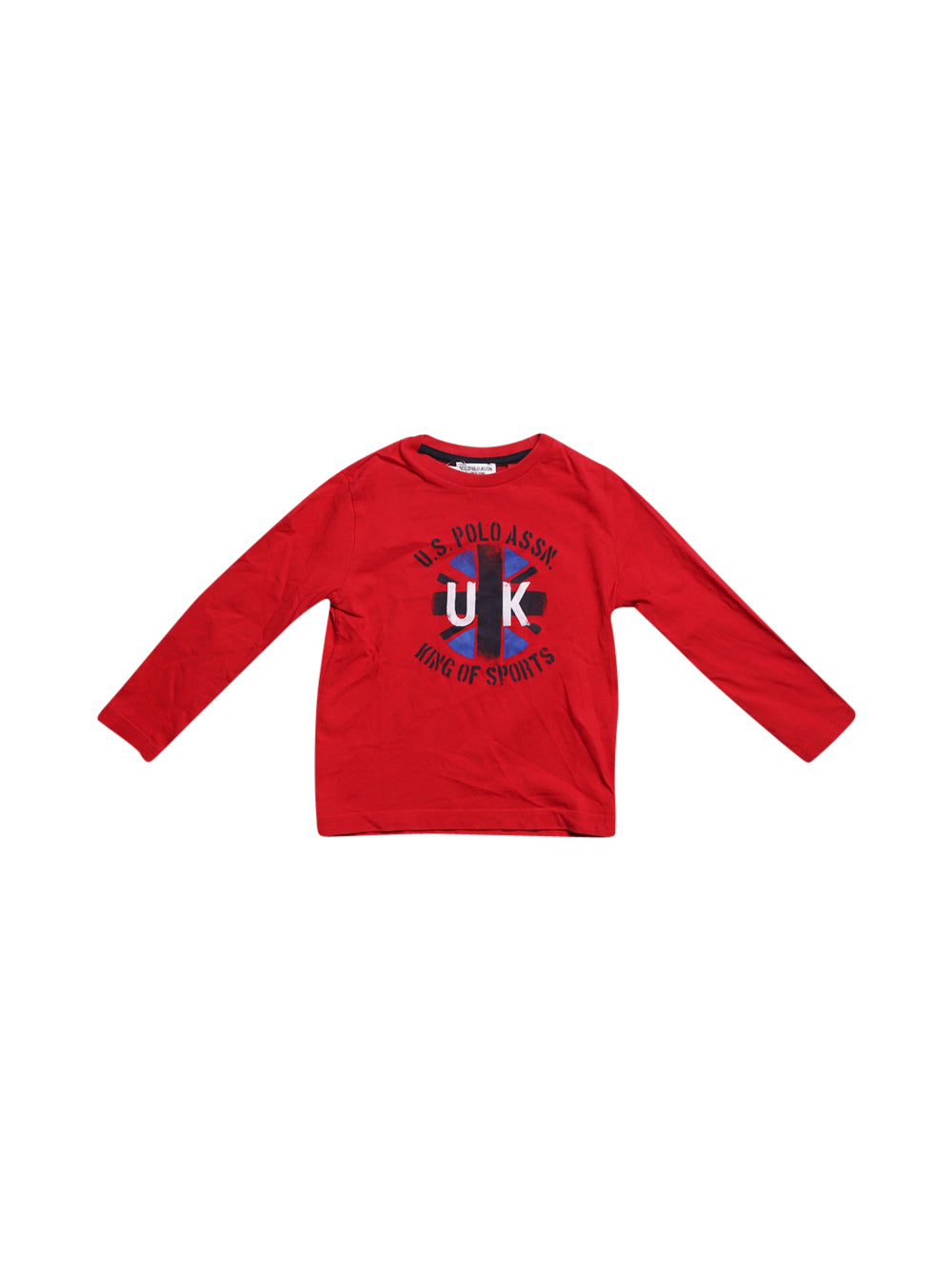 Front photo of Preloved U.S. Polo Assn Red Girl's long sleeved shirt - size 2-3 yrs