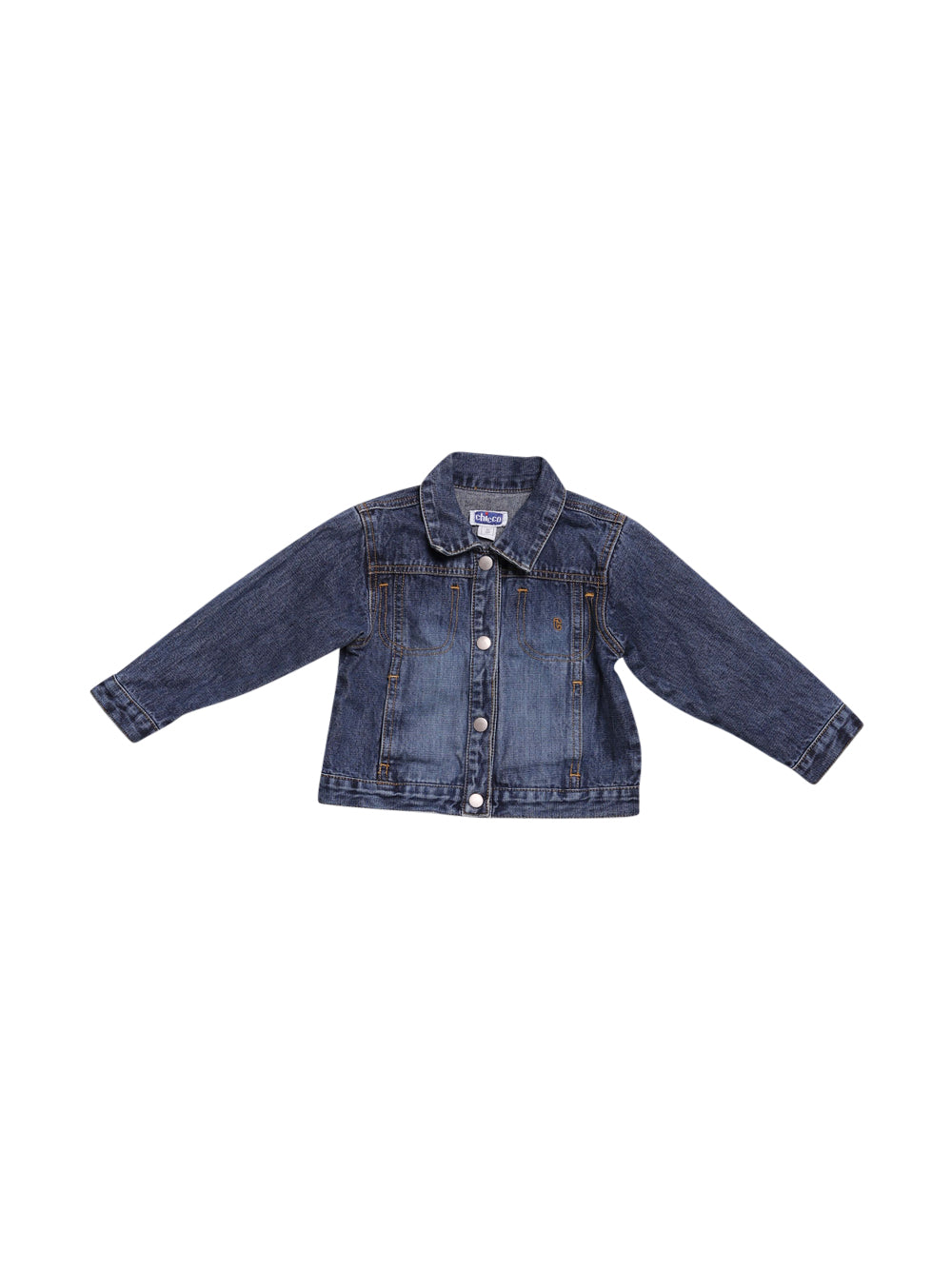 Front photo of Preloved Chicco Blue Boy's jacket - size 9-12 mths