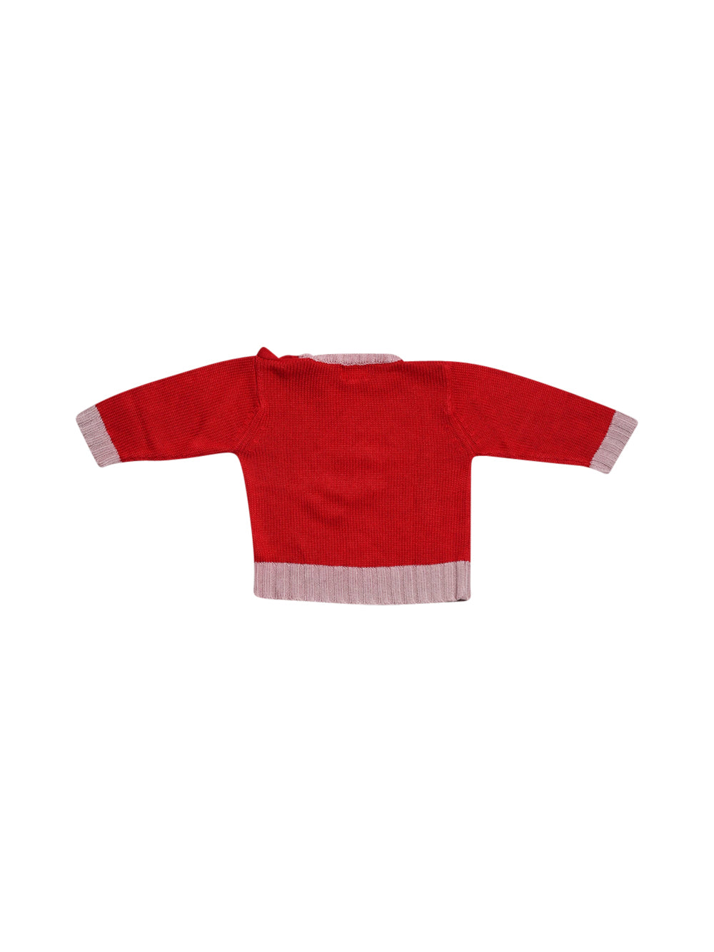 Back photo of Preloved P'tites Canailles Red Boy's sweater - size 12-18 mths