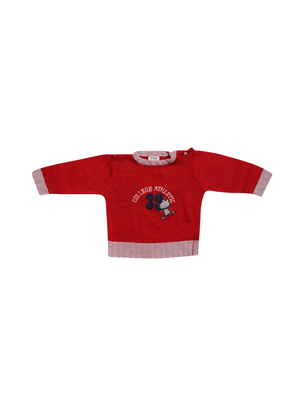 Front photo of Preloved P'tites Canailles Red Boy's sweater - size 12-18 mths