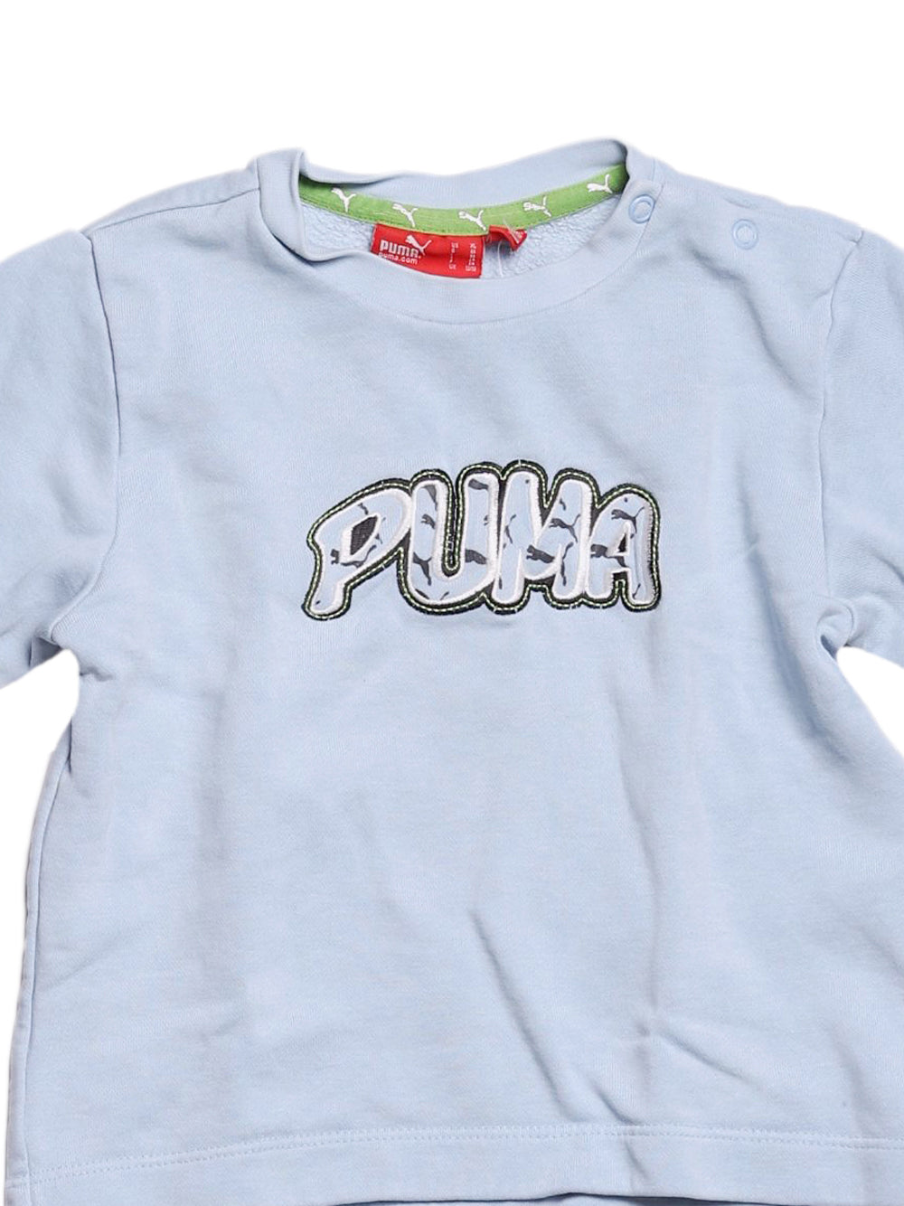 Detail photo of Preloved Puma Light-blue Boy's sweatshirt - size 2-3 yrs