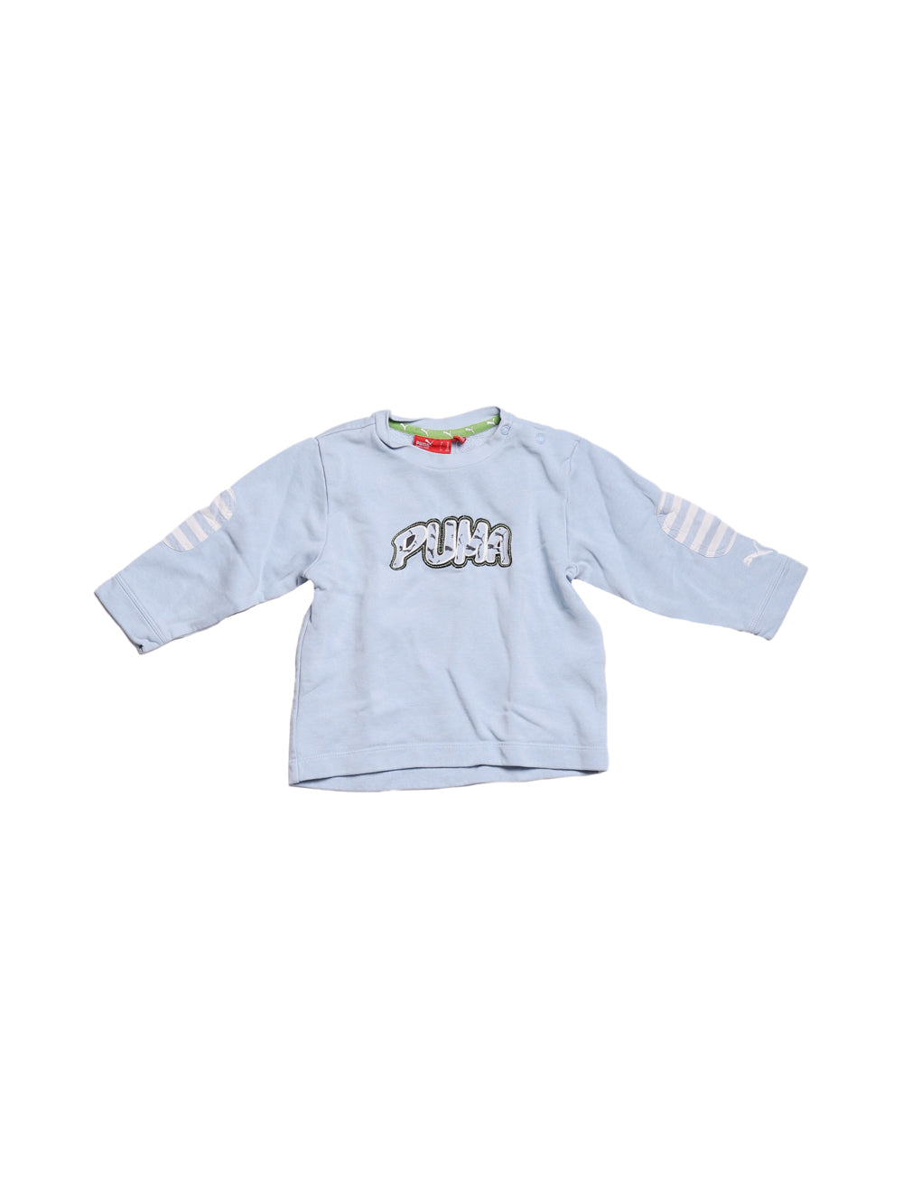Front photo of Preloved Puma Light-blue Boy's sweatshirt - size 2-3 yrs