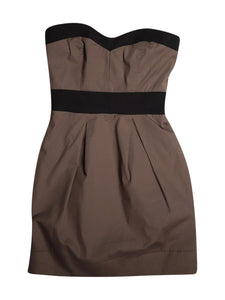 Front photo of Preloved Imperial Brown Woman's dress - size 6/XS