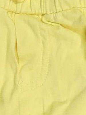Detail photo of Preloved msk Yellow Girl's shorts - size 4-5 yrs